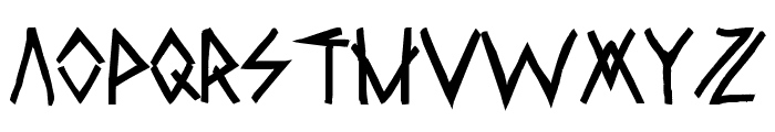 Raw Delta Hand Street Font LOWERCASE