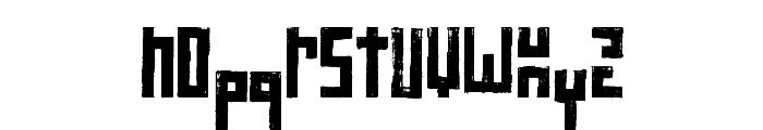 RawStreetWall Font LOWERCASE