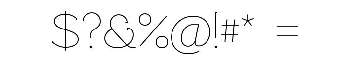 Rawengulk Light Font OTHER CHARS