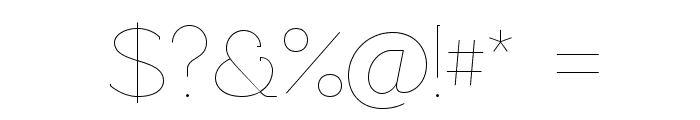 Rawengulk Ultralight Font OTHER CHARS