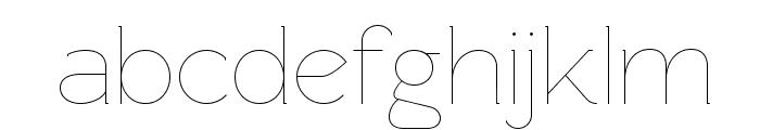 Rawengulk Ultralight Font LOWERCASE