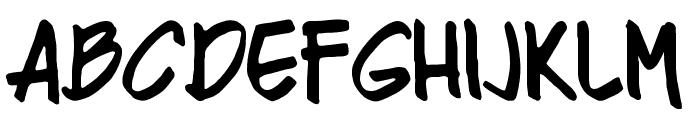 Razing Regular Font LOWERCASE