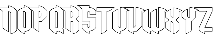 Razorclaw Hollow Font UPPERCASE