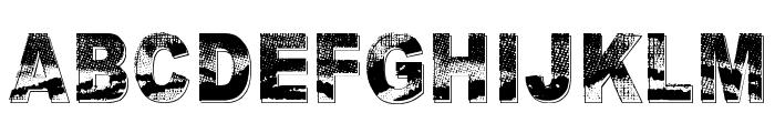 Razterhunch Shadow Font UPPERCASE