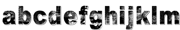 Razterhunch Shadow Font LOWERCASE
