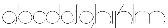 radiance Font LOWERCASE