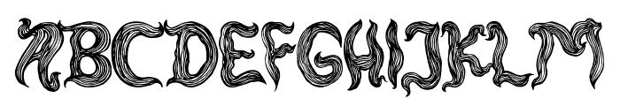 rambut kusut Font UPPERCASE