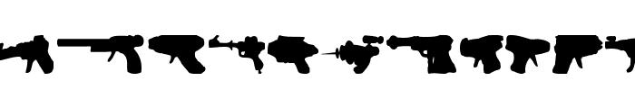 rayguns Font UPPERCASE