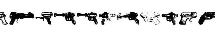rayguns Font LOWERCASE