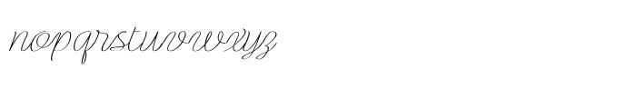 Rachele Ribbon Expanded Font LOWERCASE