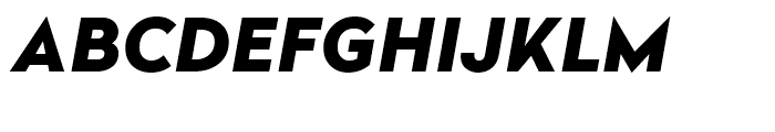 Radikal Black Italic Font UPPERCASE