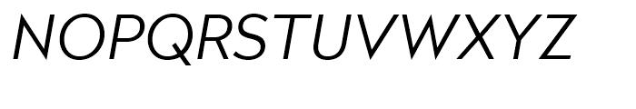 Radikal Light Italic Font UPPERCASE