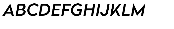 Radikal Medium Italic Font UPPERCASE