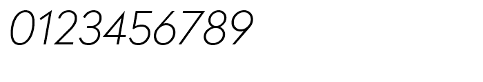 Radikal Thin Italic Font OTHER CHARS