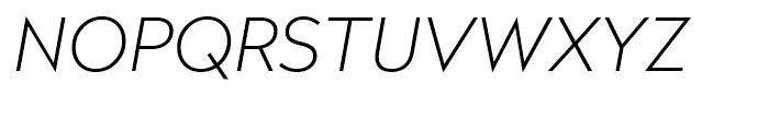 Radikal Thin Italic Font UPPERCASE