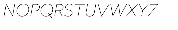Radikal UltraThin Italic Font UPPERCASE