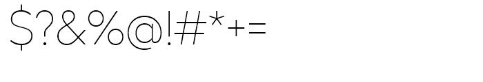 Radikal UltraThin Font OTHER CHARS