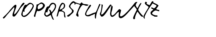 Rainer Handwriting Regular Font UPPERCASE