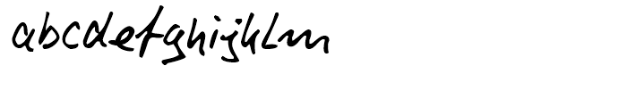 Rainer Handwriting Regular Font LOWERCASE