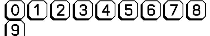 Ratcaps Mac 3D Font OTHER CHARS