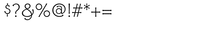 Ravenna Light Font OTHER CHARS