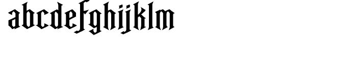 Ravenwood One Font LOWERCASE