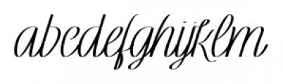 Rachele Ribbon Black Semi Font LOWERCASE