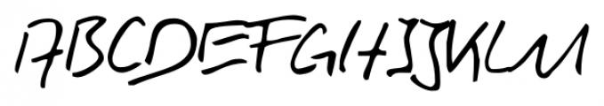 Rainer Handwriting Regular Font UPPERCASE