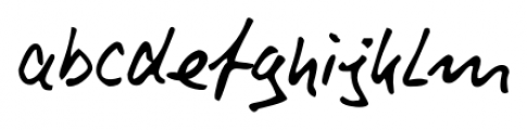 Rainer Handwriting Regular Font LOWERCASE