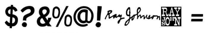 Ray Johnson Regular Font OTHER CHARS
