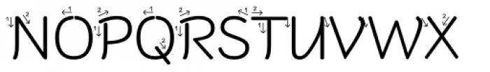 RAN Pfeil Font UPPERCASE