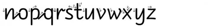 RAN Pfeil Font LOWERCASE