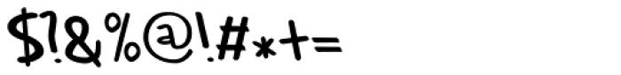 Rabbit Escape Regular Font OTHER CHARS