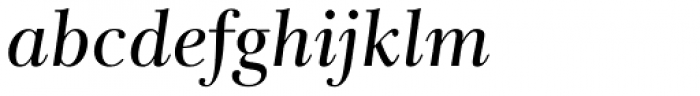 Rabenau Pro Book Italic Font LOWERCASE