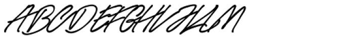 Race Fever Pen Font UPPERCASE