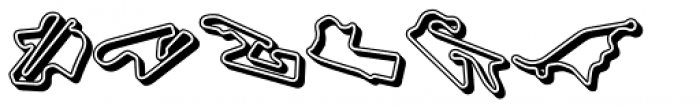 Racetracks Asia Americas 3 D Font LOWERCASE