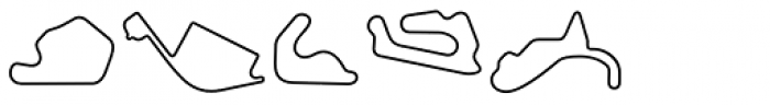 Racetracks Asia Americas Linear Font UPPERCASE