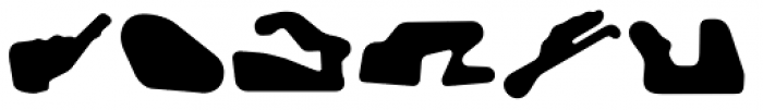 Racetracks Asia Americas Solid Font UPPERCASE