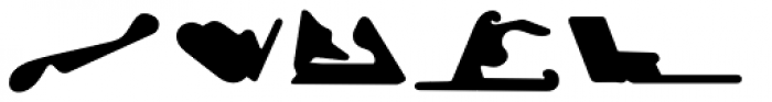 Racetracks Asia Americas Solid Font LOWERCASE
