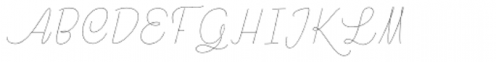 Rachele Cond Thin Font UPPERCASE