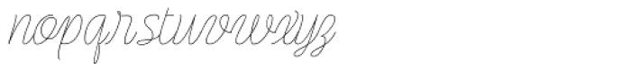 Rachele Semi Light Font LOWERCASE