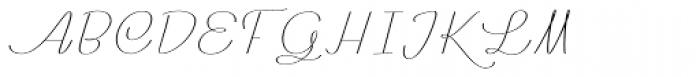 Rachele Semi Ribbon Font UPPERCASE