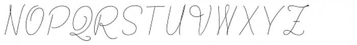 Rachele UltraCond Light Font UPPERCASE