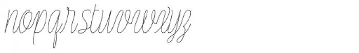Rachele UltraCond Light Font LOWERCASE