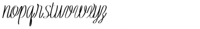 Rachele UltraCond Ribbon Black Font LOWERCASE