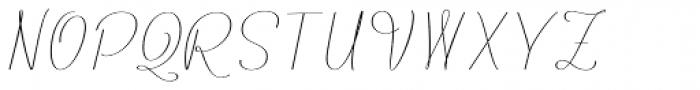 Rachele UltraCond Ribbon Font UPPERCASE
