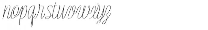 Rachele UltraCond Ribbon Font LOWERCASE