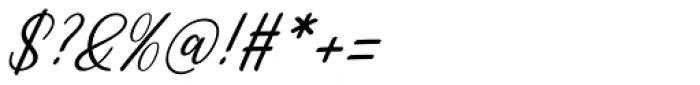 Rachidah Script Italic Font OTHER CHARS