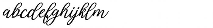 Rachidah Script Italic Font LOWERCASE