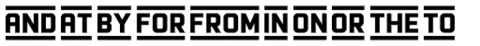 Racon Extras Font LOWERCASE
